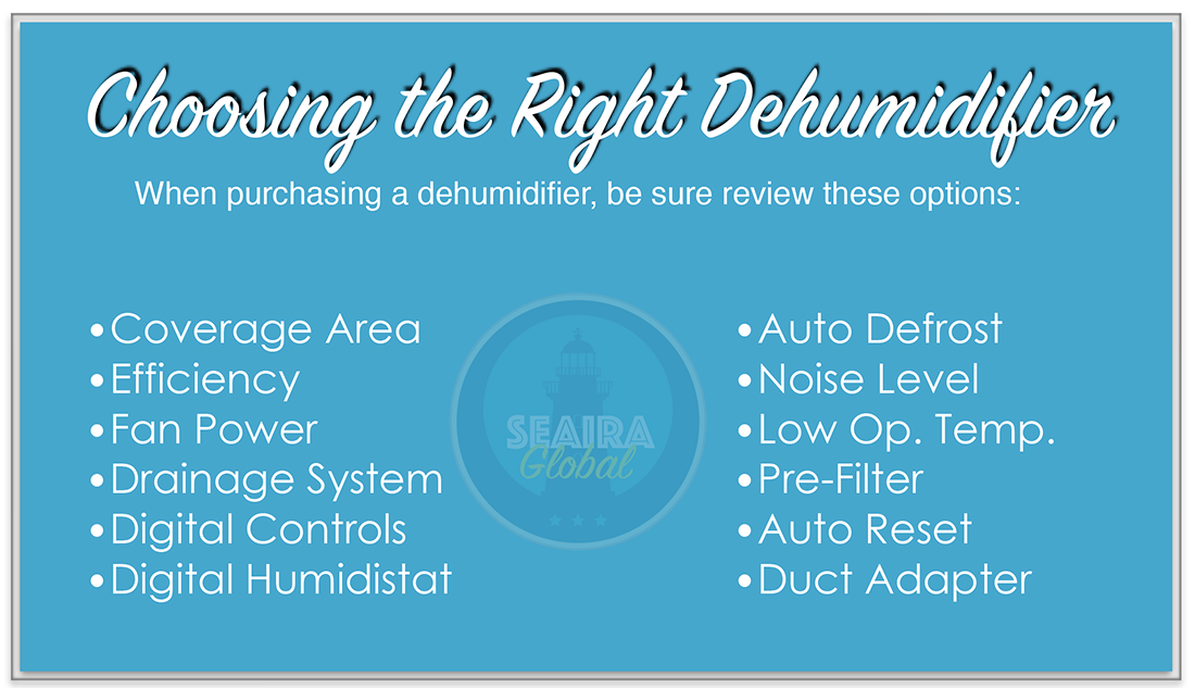 Help choosing the right dehumidifier