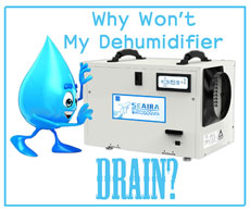 My Dehumidifier Won't Drain
