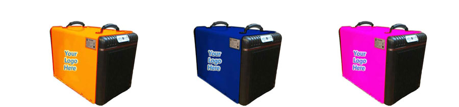 custom crawl space dehumidifier colors and logos