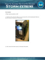 storm extreme restoration dehumidifier How to Access the Control Board