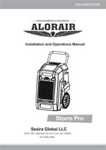 storm pro restoration dehumidifier Manual