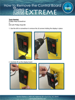 zeus extreme air mover how to remove the control board
