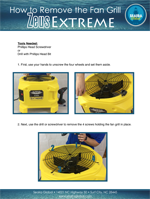 zeus extreme air mover how to remove the fan grill