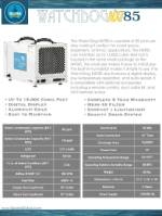 WatchDog NXT85 Dehumidifier Spec Sheet