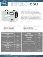 WatchDog 550 Dehumidifier Spec Sheet