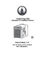 watchdog 900 crawl space dehumidifier Manual