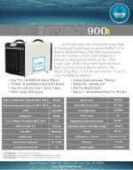 WatchDog 900c Dehumidifier Spec Sheet